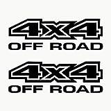 Autodomy Autocollants 4X4 Tout Terrain Off Road Pack de 2 unités pour la Voiture (Noir)