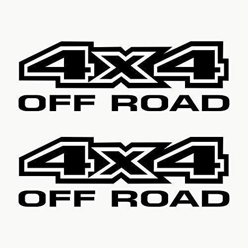 Autodomy Pegatinas 4x4 Off Road Todoterreno Pack 2 Unidades para Coche (Negro)