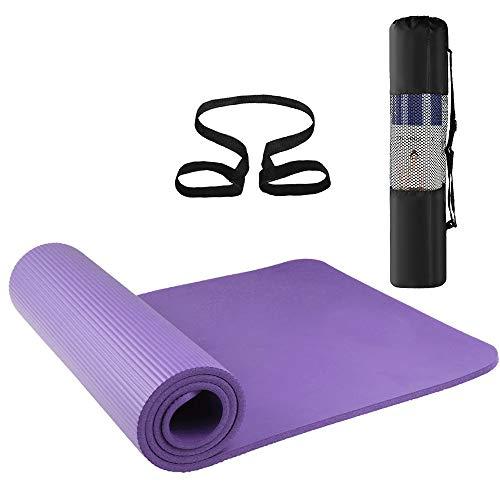 Lixada Esterilla de Yoga Antideslizante NBR Material Medioambiental con Bolsa Cuerda para Fitness Pilates Gimnasio 186 * 61 cm