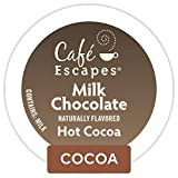 Cafe Escapes, Milk Chocolate Hot Cocoa, Single-Serve Keurig K-Cup Pods, 72 Count (3 Boxes of 24...
