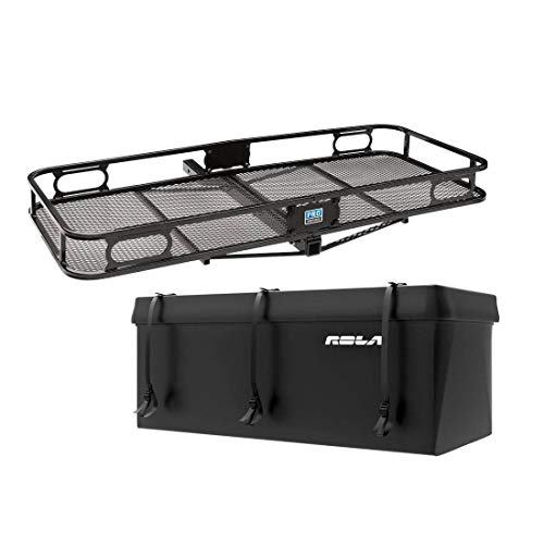 Pro Series Carrier Basket for 2 Inch Trailer Mounted Hitch + Cargo Carrier Bag