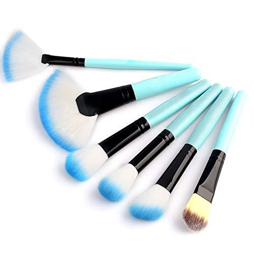 Make Up Brush Set Professional 32 pcs, pinceaux de maquillage Fondation lèvres brosse oeil brosse visage brosse Pinceau fard à paupières avec un sac en nylon noir,Bleu