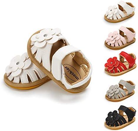 BiBeGoi Infant Baby Girls Summer Flower Sandals Toddler Princess Dress Flat Outdoor Shoes Newborn product image