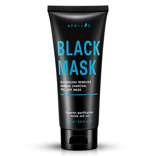 Blackhead Remover Mask, Peel off Mask with Bamboo Charcoal, Black Mask for Nose and Face Deep Pores Cleansing and Oil Control, Painless & Easy to Strip, 100 ml / 3.4 fl.oz