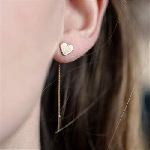 Dames Oorbellen Sets Hoepels 1 paar Harten met lange oorbellen Kwastjes Ketting oorbellen Metaal Goudkleurig Hart Hangende oorbellen voor dames SieradenHart Goud