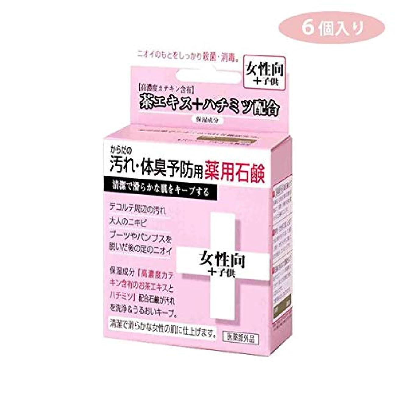 拮抗する賠償バースCTY-SF 6個入り からだの汚れ?体臭予防用 薬用石鹸 女性向き