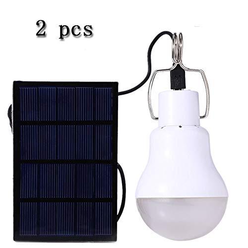 QSBY Solarunterschlupf LED tragbaren Projektor Lampe Innenzelt Notlaterne USB-Lade geeignet für leichte Wanderfischen 2 Stück