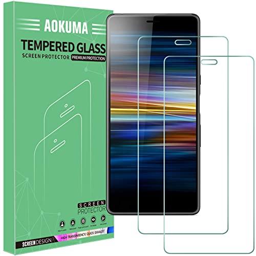 AOKUMA für Sony Xperia L3 Panzerglas,【2 Stücke】Glas kompatibel mit Sony Xperia L3 Schutzfolie, Premium Glasfolie mit 9H Festigkeit, Anti Kratzer, Splitterfest,Anti-Öl,Anti-Bläschen