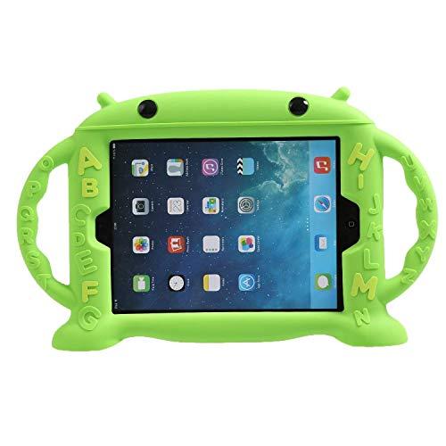 LEADSTAR Niños Caso de Nuevo iPad 9,7 Pulgadas 2017 / iPad Air / iPad Air 2 / iPad Pro 9,7 / iPad 9.7 2018, Silicona a Prueba de Golpes Gota Peso Ligero Cubierta Con 2 Asas (Verde)