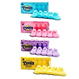 Marshmallow Peep Chicks Easter Colors - 4 Packs of 5 - Yellow, Lavender, Pink, and Blue Chicks - Old Fashioned Marshmallow Candy - Retro Holiday Treats for Easter Baskets and Decorations by Blair Candy