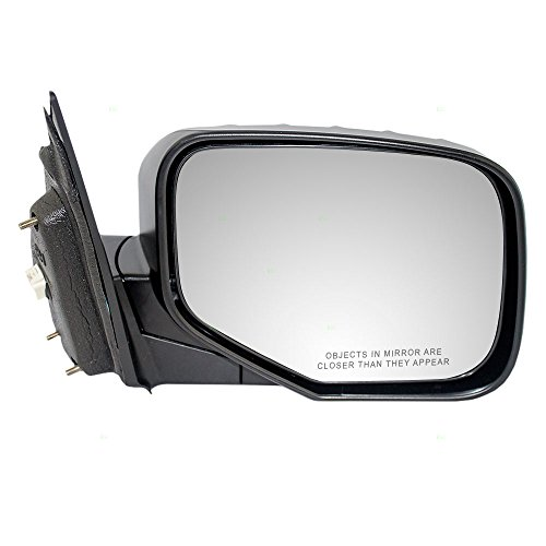 Passengers Power Side View Mirror Textured Replacement for Honda Pickup Truck 76200-SJC-A01ZF