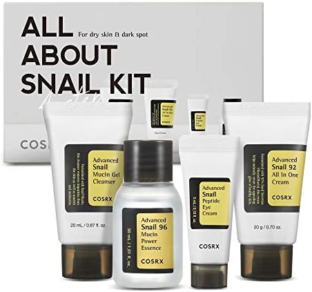 COSRX All About Snail Skincare Gift Set for Valentine Cleanser Essence Cream Eye cream Snail product image