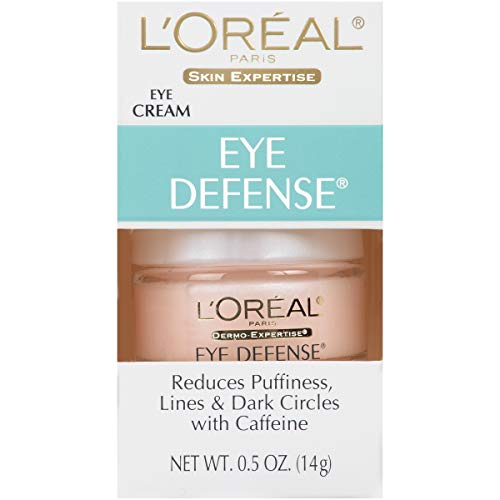 41MGR291kfL - L'Oreal Paris Skincare Dermo-Expertise Eye Defense Eye Cream with Caffeine and Hyaluronic Acid For All Skin Types 0.5 oz.