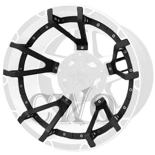 Matte Black XD Series XD827 Rockstar 3 Split Spoke Insert For 20x10 Wheel