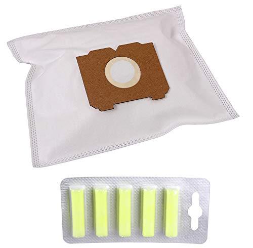 PW2 Optimal Set 30 Staubsaugerbeutel + 5 x Staubbeutel Deo Zitrone geeignet für AEG Electrolux Vampyr T1 Twin Clean mit Zusatzfilter