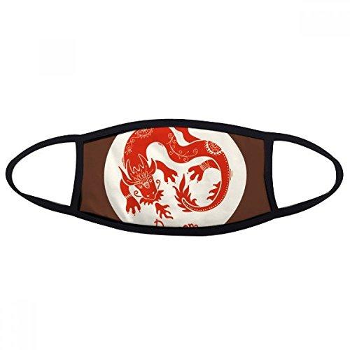 DIYthinker Jaar Van Draken Dier China Zodiac Rode Mond Gezicht Anti-stof Masker Anti Koud Warm Wasbaar Katoen Gift