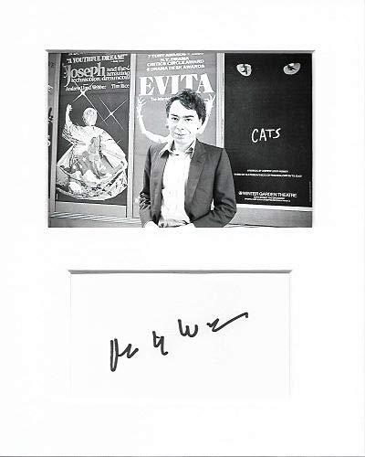 Andrew Lloyd Webber Compositor auténtico autógrafo Firma y Foto AFTAL