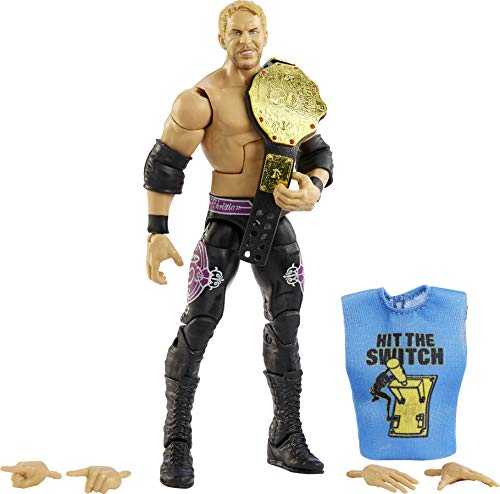 WWE Christian Fan TakeOver 6-in Elite Action Figure with Fan-voted Gear & Accessories, 6-in Posable Collectible Gift for WWE Fans Ages 8 Years Old & Up