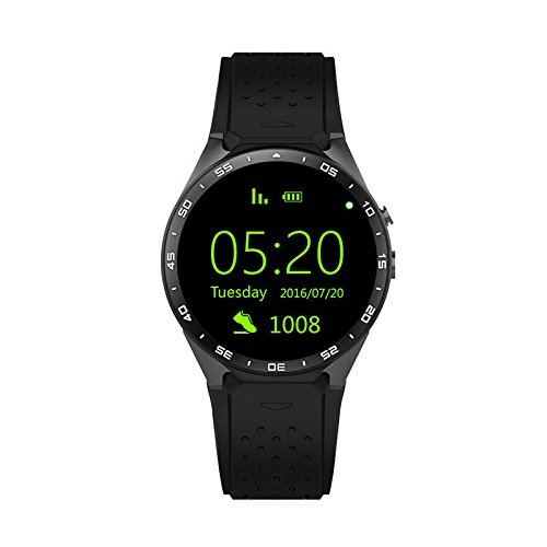 Buy layal KW88 Colorful Smart Watch Heart Rate Monitor Sleep Tracker GPS Map Bluetooth Pedometer Mes...