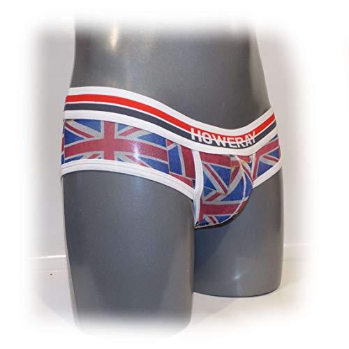 Mens Slip Bulge Pouch Thong unión jack Size: XL