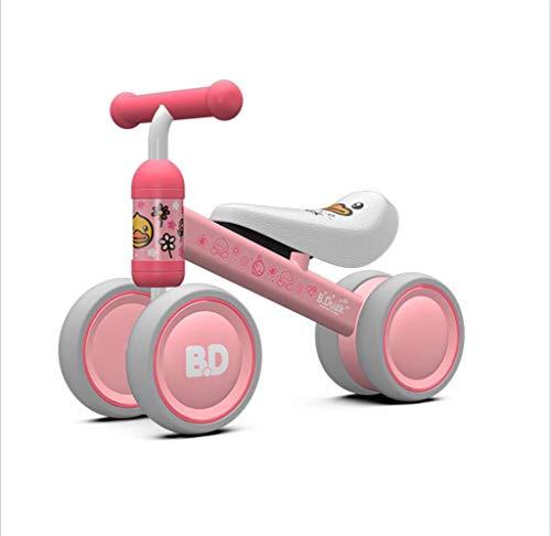 MYMAO 01Babybalance Fahrrad, Mini-Fahrrad-Wanderer Spielzeug Kinderfahrrad ohne Pedal Outdoor Indoor Fahrspielzeug 1-3 Jahre alt Junge und Mädchen,Pink