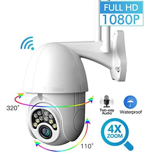 Borlai Wireless WiFi IP Camera 360 Degree 1080P Outdoor PTZ 2.0MP Waterproof Cam Support Two-Way Audio