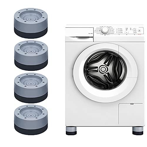 Amortiguadores de vibraciones para lavadoras/secadoras/frigoríficos/cintas de correr, antideslizantes/antivibración/cancelación de ruido/amortiguación Almohadillas, Elevador de sofá cama, 4pcs