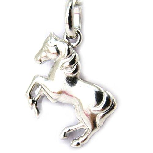 Altesse [M4984] - Ciondolo in argento 'Cheval' rodio.
