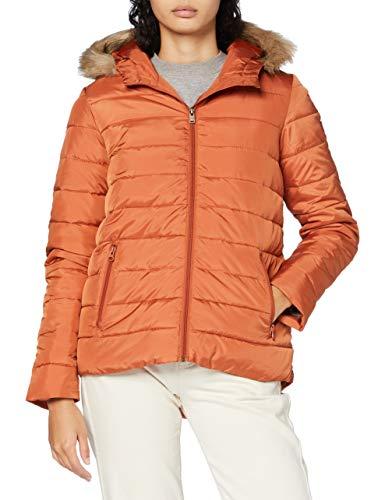 Roxy Rock Peak Fur - Chaqueta Con Capucha Y Acolchado Resistente Al Agua Para Mujer Chaqueta Con Capucha Y Acolchado Resistente Al Agua, Mujer, auburn, XL