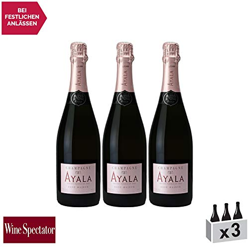 Champagne Rosé Majeur Rosé - Maison Ayala - Rebsorte Chardonnay, Pinot Noir, Pinot Meunier - 3x75cl - 90/100 Wine Spectator