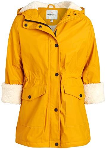 Urban Republic Girls Hooded Rain Jacket with Fur Lining, Size 10/12, Yellow Cream