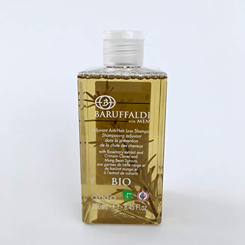 Shampooing BIO à l'Extrait de Romarin Adiuvante dans la Prévention de la Chute des Cheveux 250 ml - BaruffaldiBio for Men Made in Italy