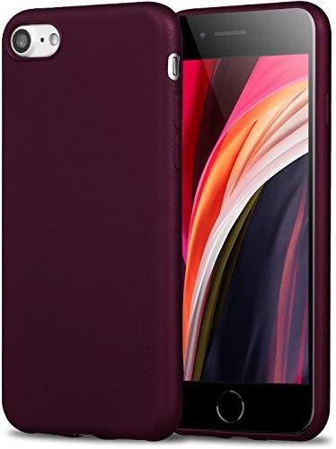 X-level Cover iPhone SE 2020, Cover iPhone 8, Cover iPhone 7, Ultra Sottile e Morbido TPU Protettiva Case Silicone Rubber Protezione Custodia Cover per iPhone SE 2020/8/7 (4.7 Pollici), Vino Rosso