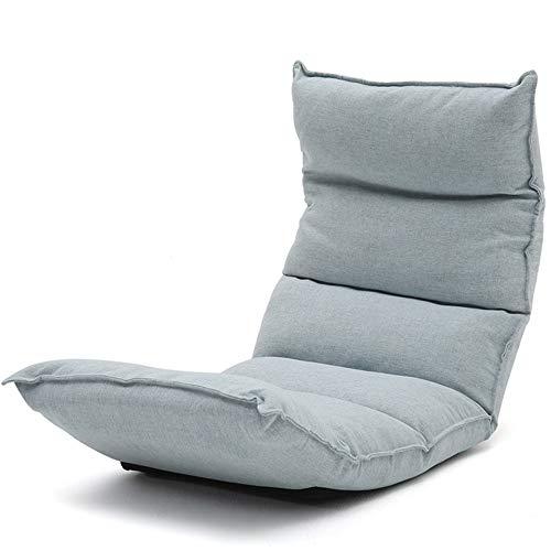 FUFU Deckchairs Lounge Chair, Relax Floor Folding Spiel Sofa Chair Lazy Folding Multi-Winkel Multi-Position Einstellbare Schlafsofa Recliner Klappbar (Color : Beige)