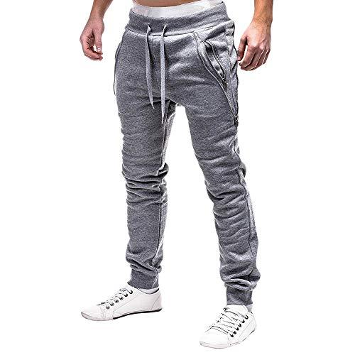 VPASS Pantalones para Hombre,Pantalones Moda Pop Casuales Chándal de Hombres Jogging Pants Trend Largo Pantalones Diseño de Personalidad