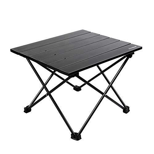 YIYEKE Camping Backpacking Folding Table,Collapsible Ultralight Portable Household Side Coffee Table,with Aluminum Table Top and Compact Bag,Prefect for Camp,Hiking,Cookouts,Picnic,BBQ,Travel(Small)