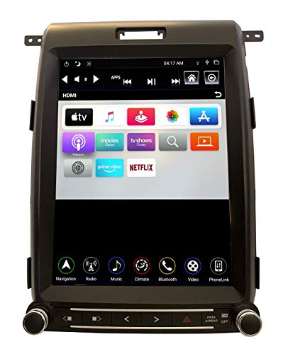 LINKSWELL Gen IV T-Style 12.1 Inch Radio Replacement for F150 2013 to 2014 GPS Navigation Android Head Unit Multimedia Player Bluetooth/USB/AUX/WiFi Car Stereo TS-FDOP12-1RR-4A