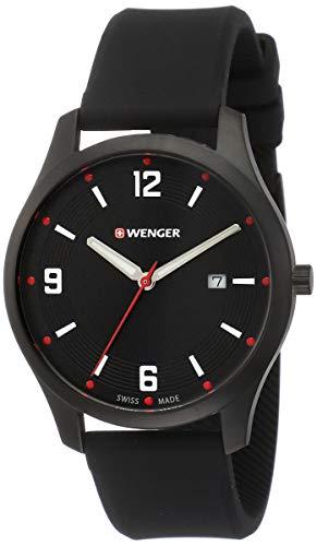 Wenger Unisex Analog Quarz Uhr mit Silikon Armband 01.1441.111