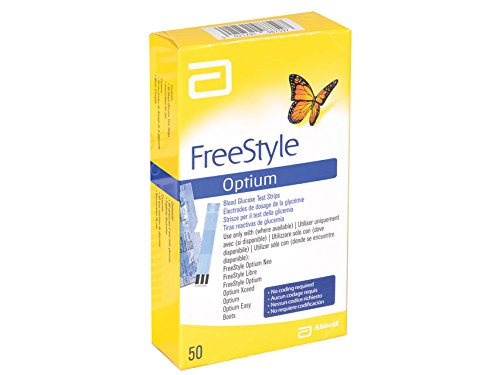 Abbott 23943 Freestyle Strisce Glucosio, Optium, Confezione da 50
