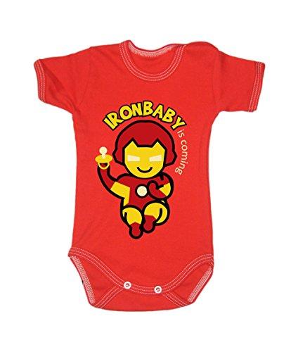 Couleur Mode Ironman bodies bébé 0–24 mois Red 6-9 months, 74cm
