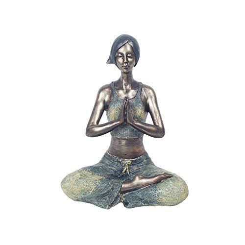 Vidal Regalos Figura Decorativa Clasica Chica Yoga Resina 22 cm