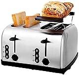 WHMWPB Tostadora multifuncional de ranura larga, tostadora doméstica, Tostadora de 4 ranuras, 6 máquinas de pan de control de temperatura-302919cm Electrodomésticos pequeños