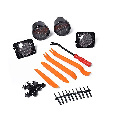 Koowaa Blinker mit Schutzblechwerkzeug für Jeep Wrangler JK, 12V