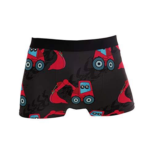 BONIPE Niedliche Kinder-Boxershorts mit Traktor-Muster, für Herren, Unterwäsche, Jungen, Stretch, atmungsaktiv, niedrige Taille, Größe S Gr. XL, mehrfarbig