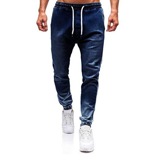Vectry Pantalones Hombre Pantalones De Mezclilla De Moda Pantalones Vaqueros Desgastados Pantalones Largos De Lápiz Ropa de Calle 2020 Casual Pantalon Chandal Hombre