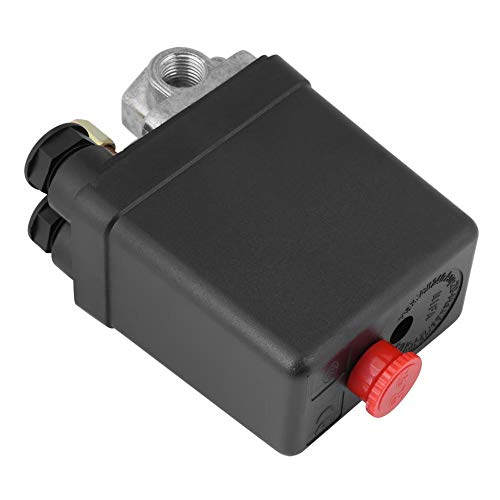 Air Compressor Switch, Heavy Duty 240V 16A Four Port Air Compressor Pressure Switch Control Valve Replacement Parts 90PSI -120PSI
