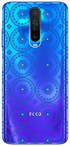 Mixroom - Schutzhülle Case aus TPU Silikon weich Hintergrund transparent für XIAOMI Poco X2 Fantasie Fliesen U1076
