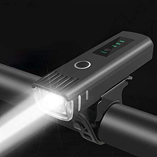 shenruifa Fahrradlicht Fahrradlichter, USB wiederaufladbares Fahrrad Induktionslicht Superhelle Scheinwerfer Wasserdichtes LED Fahrradlicht für Radfahren Camping