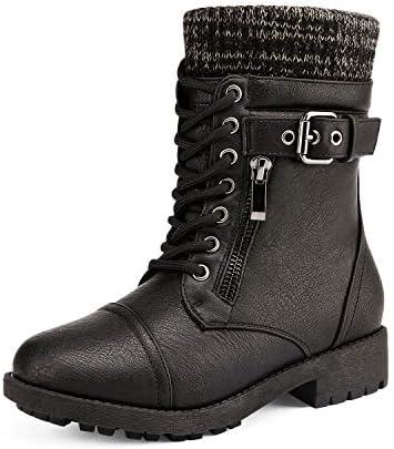DREAM PAIRS Big Kid Amazon K Black Girl s Mid Calf Combat Boots Size 6 M US Big Kid product image