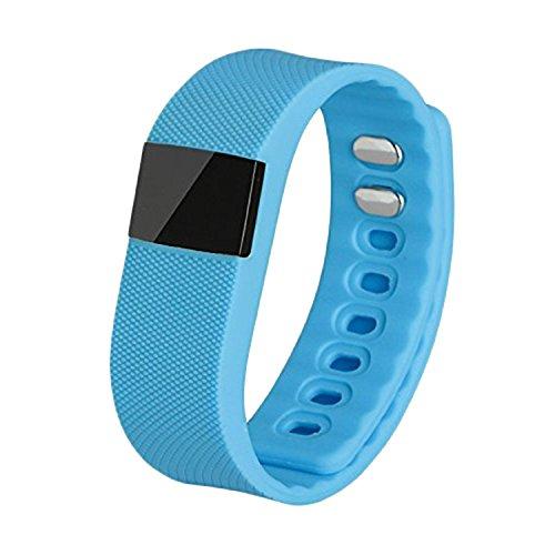 mws Bracciale Smartwatch Bluetooth contapassi Calorie monitoraggio del Sonno di Colore Celeste